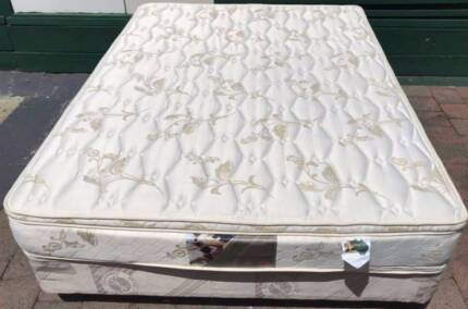 Good Queen Bed base with double sided pillow top mattress