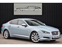 2013 '63' Jaguar XF 3.0 D V6 Diesel ( 240ps ) Luxury * Crystal Blue + Dove Grey