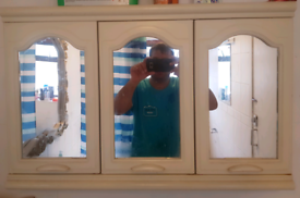 3 Door Bathroom Mirror Cabinet For Sale