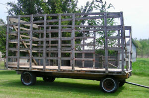 Bale Thrower Wagon, 16x8 feet