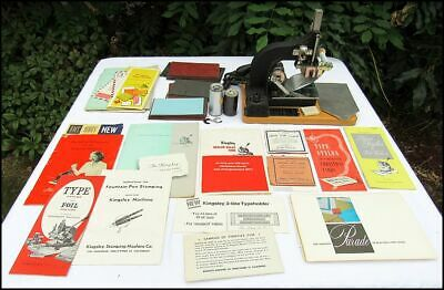Vintage Kinsley Hot Foil Stamping Machine Foil Manuals Advertisement Nice