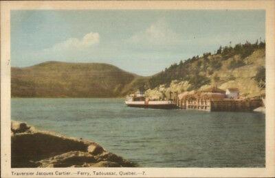 Tadoussac Quebec Ferry Boat Jacques Cartier At Dock Postcard