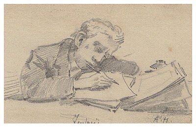 """August Holmberg,Bleistiftzeichnung,Skizze,,""""Ludwig"""""""