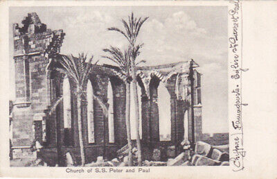 CYPRUS POSTCARD FAMAGUSTA CHURCH OF SS PETER AND PAUL C 1920  BY STA