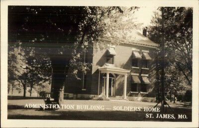 St. James MO Soldiers Home Admin Bldg Real Photo Postcard