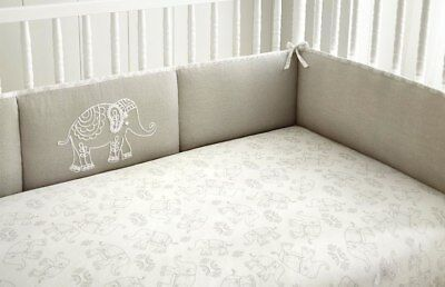 Used, Levtex Baby Baby Ely Elephant Grey 4 Piece Infant Nursery Crib Cot Bumper for sale  Shipping to India