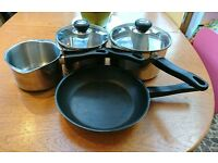 Set of Judge Vista Pans and Stock Pot