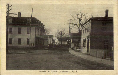 Ashaway RI High Street c1910 Postcard