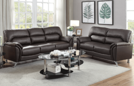 ***BRAND NEW***TWO AND THREE SEAT BONDED LEATHER SOFAS