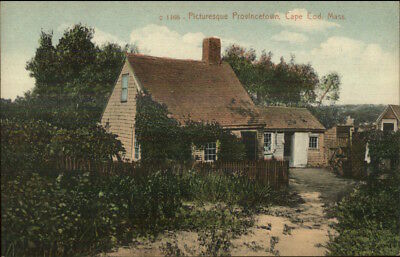 Provincetown Cape Cod MA Home & Picket Fence c1910 Postcard Cape Cod Picket Fence