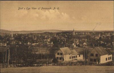(Penacook NH Birdseye View c1910 Postcard)