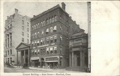 Hartford Ct Courant Bldg C1900 Private Mailing Card
