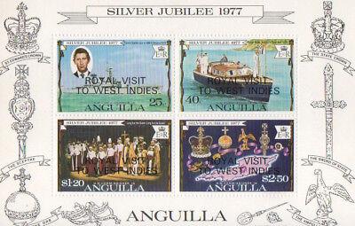 Anguilla Silver Jubilee 1977 Royal Visit Mini Sheet