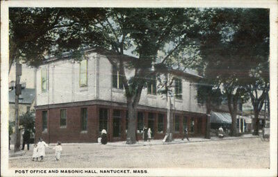 Nantucket MA Post Office & Masonic Hall 1920 Postcard for sale  Shipping to Canada