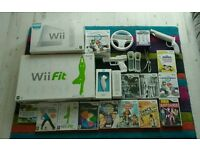 Nintendo Wii & Wii Fit with Mario Kart, Boxed
