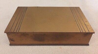 - Antique Silvercrest Bronze Cigar Humidor Cigarette Box 506-133. Spanish Cedar