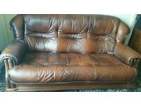 Leather Sofa Immaculate Condition