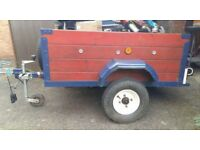 Wooden camping trailer