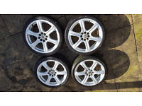 """Alloy Wheels 17"""" 4 X 100 4 X 108 Ford Vauxhall Renault Vw Multifit"""