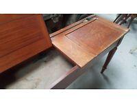Vintage rare wooden 3 seater desk