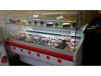 Closing down cake/cafe shop, for sale: serve over display, fridge, professional cooker