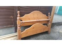 Chunky pine king size bed frame