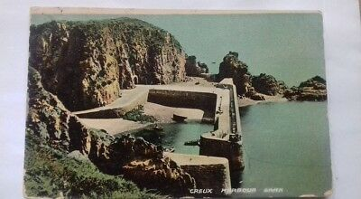 Antique postcard,Creux Harbour,Sark,Southampton,1900s,1905,Hertford