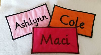Нашивки Custom Embroidered Name Patch Iron