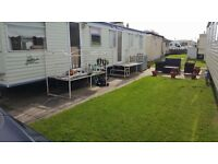 3 bedroom 12 ft static caravan on Edwards caravan park Towyn available to rent for Easter week break