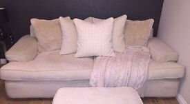Large sofa, like new condition with matching foot stool