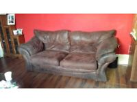 FREE 3 seater faux suede sofa, lovely and comfy