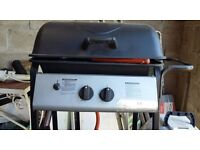 NEW Asda double burner bbq with gas bottle
