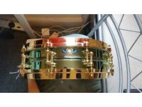 Ludwig Carl Palmer 'Venus' brass snare drum, 3.7x14, excellent cond.
