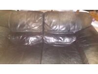Large 2 seater leather settee