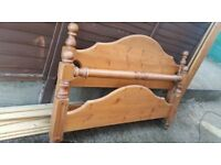 Chunky farmhouse pine king size bed frame