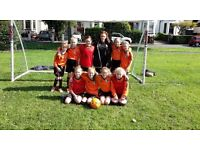 U10s Girls football team looking for players for next season, all experience welcome.