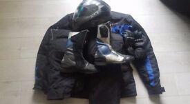 motorcycle waterproof clothing full set including helmet