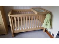 Mamas and Papas Cot Bed - can be used as cot and then converted in to baby's first bed