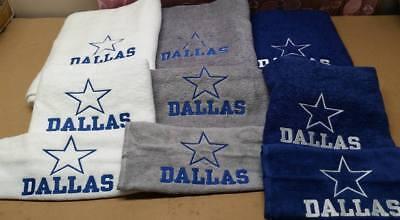 Dallas Cowboys Football Bath Towel Set, Personalized Sports Team Towel -