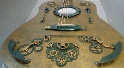 Large 6 String  Acoustic Guitar Steampunk designed by Blackwood Guitars