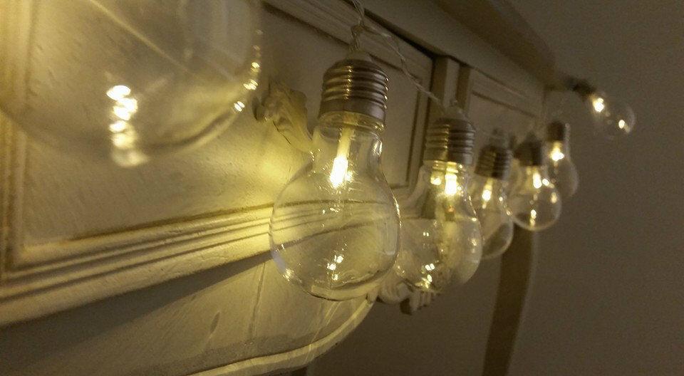 10 warm white festoon globe fairy string lights outdoor garden christmas party ebay. Black Bedroom Furniture Sets. Home Design Ideas