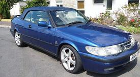 Saab 9-3 convertible fantastic condition low mileage!
