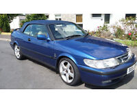 Saab 9-3 convertible fantastic condition low mileage!