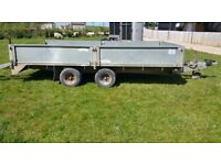 Graham Edwards Dropside Trailer with car ramps