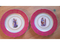 SET OF BIBLICLE PLATES WITH GOLD TRIM