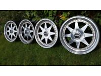 17's classic Rims ZENDER STAR 4x100 all around J7.5 offset ET25 BMW E30/21 VW GOLF/CORRADO/JETTA