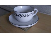 Set of 6 Cappuccino Cups & Saucers