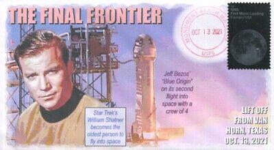 COVERSCAPE Computer Designed William Shatner Blue Origin Space Flight Cover - $2.25