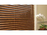 Vertical blind and wooden Venetian blind