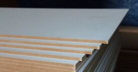 250 Pieces of NEW 3mm Laser Friendly HDF Boards 31in x 20½in (790mm x 520mm)